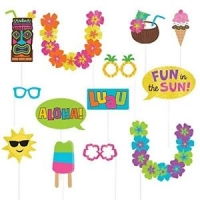 Summer party activity photo booth kit props