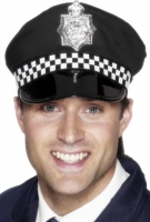 Policeman Panda Hat with chequered Band