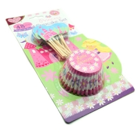 princess party 24 cup cake cases and 24 cake toppers