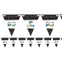 Officially Retired Bunting Banner Celebration Party Decoration
