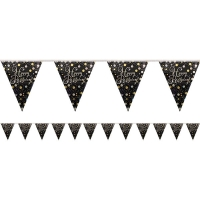 Sparkling Celebrations Happy Birthday Flag Banner Party Decoration 4m Bunting
