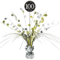 100th Birthday Sparkling Celebration Age 100 Table Party Decoration Centerpiece