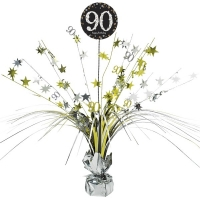 90th Birthday Sparkling Celebration Age 90 Table Party Decoration Centerpiece