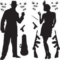 1920s Gangster Scene Add-Ons Party Decoration
