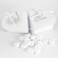 Something in the Air White Heart Favor Boxes wedding decoration