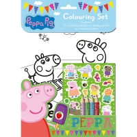 Peppa pig party colouring set party activity/loot bag filler