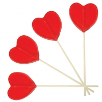 Valentines Day Heart Shaped Lolly Sweets / Candy / Confectionery