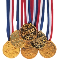 Winner Award Medals Pack of 6 Medals Celebration Party Favors