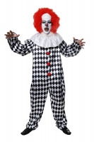 Scary Harlequin Clown Costume