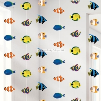 Under the Sea Theme Party Tropical Fish Hanging Strings Decoration