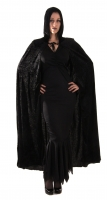 Halloween Black Velvet Cape