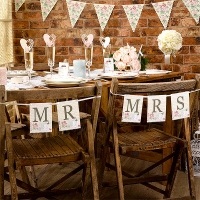 With Love 'Mr & Mrs' Chair Bunting Wedding party decoration