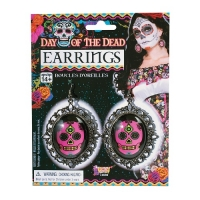 Day Of The Dead Fancy Dress Accessory Lace Red And Gold Glitter Fan