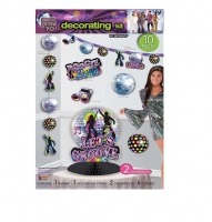 1970's Disco Fever Decorating Kit, Party Decoration's 10 pieces