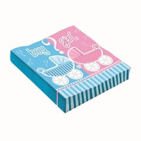 Baby Shower Gender Reveal Party Napkins