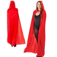 Red hooded Cape Adult One Size