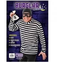 Mens Burglar/ Robber Fancy Dress Costume One Size