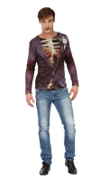 Mens Halloween Fancy Dress Costume Zombie Bridegroom 3D Print T-shirt