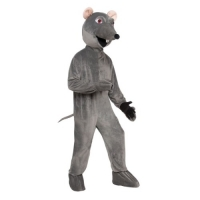 Mens / Ladies Adult Step In Big Head Rat Fancy Dress Costume