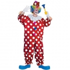 Adults Red and White Dotted Clown Costume