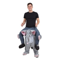 Mens / Ladies Adult Piggy Back Elephant Fancy Dress Costume