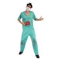 Mens Halloween Fancy Dress Costume Zombie Surgeon
