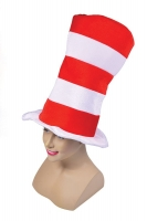Childrens Red and white Cat in a hat/ Wally Hat