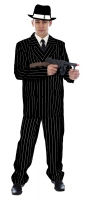 Black & White Pinstripe Gangster Costume