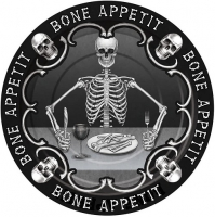 Halloween Bone Appetit Small Plates 7 inches