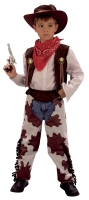 Boys Cowboy Costume '4 Piece Cowprint'