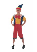 Boys Pinocchio Fancy Dress Costume