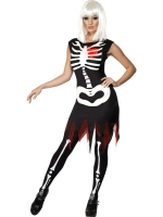 Bright Bones 'Light up' Halloween Fancy Dress Costume