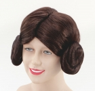 Brown Space Princess leia Wig