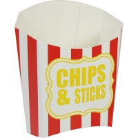 Party/ BBQ Special Occasions Fun BBQ Chips & Sticks Red Stripe Chip Scoop