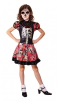 Girls Halloween Fancy Dress Day of the Dead Costume