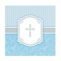 Religious Occasions Communion Blessings Blue  Paper Luncheon Napkins 2ply