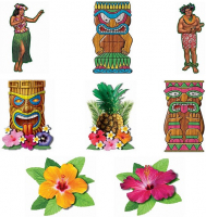 Hawaiian Luau Cutout set Party decorating Accessory