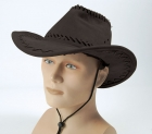 Deluxe Black Stitched Cowboy Hat