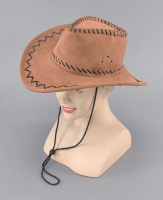 Deluxe Brown Stitched Cowboy Hat