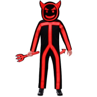 Glow in the Dark Stick Devil Costume