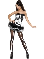 Fever Skeleton Print Corset