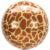 OrbzGiraffe print jungle Bubble Balloon