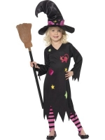 Girls Halloween Cinder Witch Costume