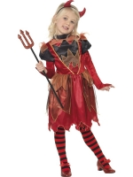 Girls Halloween Flame Witch Costume