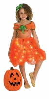 Girls Halloween Twinkle Light up Pumpkin Costume