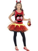 Girls Moshi Monster Tutu Dress with Bag - Diavlo