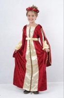 Girls Red Regal Princess Costume