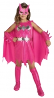 Girls Super Hero Batgirl Costume - Pink
