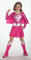 Girls Super Hero Supergirl Costume - Pink