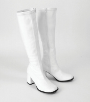 GoGo 60's / 70's Style White Boots
